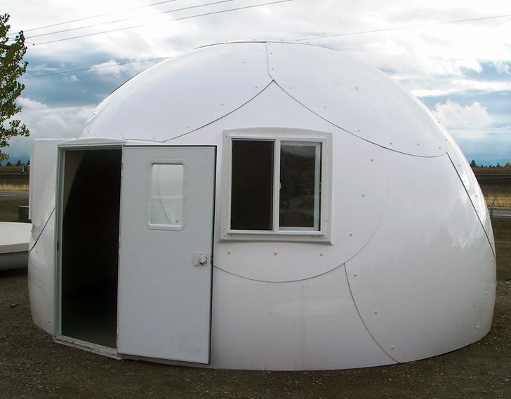 Prefab Intershelter Dome Homes Pop Up Anywhere For Immediate S Dome House Prefab Dome Home