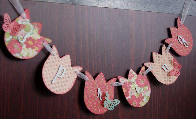 70s fabric Spring buntingSpring bannerfarmhouse spring decor