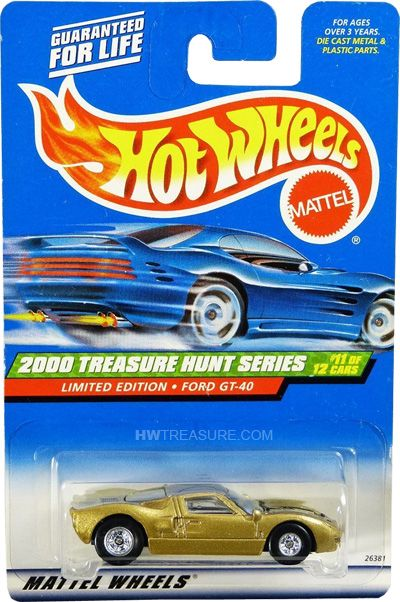 Ford Gt 40 Hot Wheels 2000 Treasure Hunt Hwtreasure Com Hot