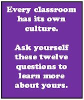 Your Classroom Culture: 12 Question to Ask Yourself | Minds in Bloom