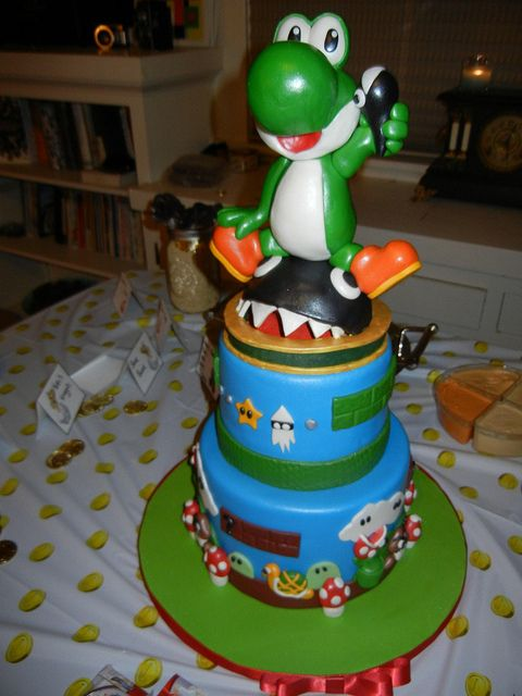 Sensational Yoshi Cake Cake Eat Cake Cupcake Cakes Funny Birthday Cards Online Necthendildamsfinfo