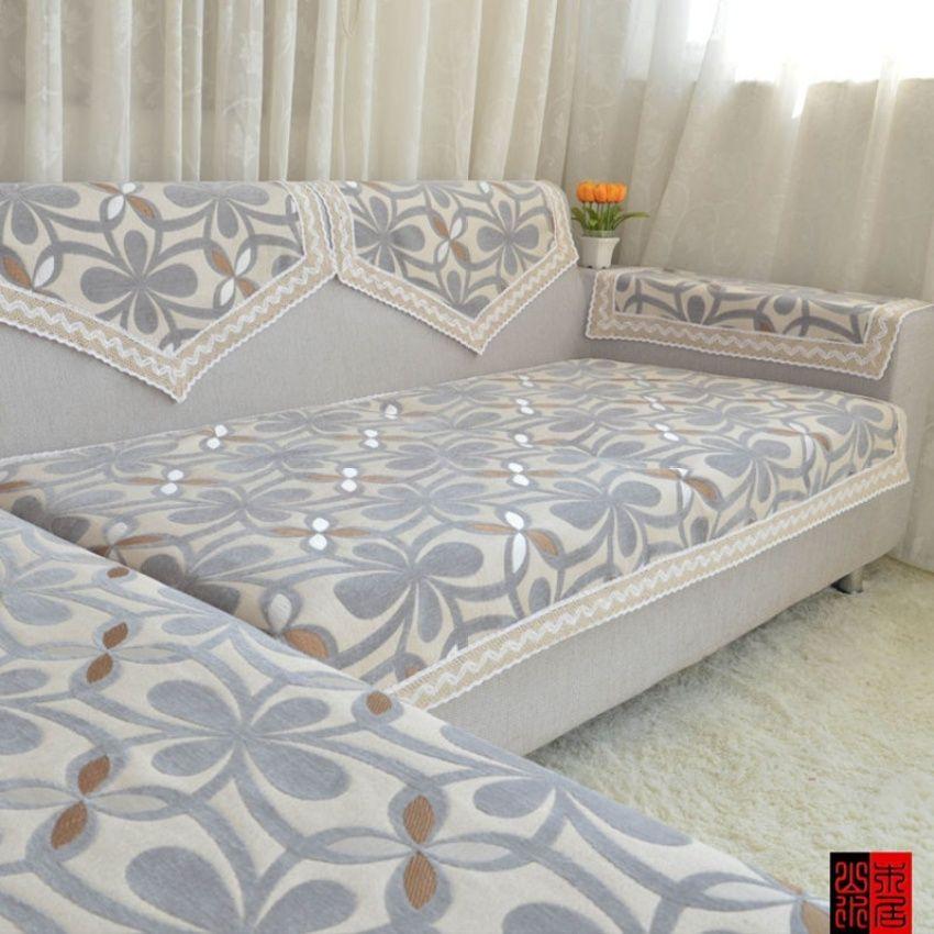 Simple Fabric Sofa Cushion Gray Gai Jin Lady S Pad Armrest Backrest