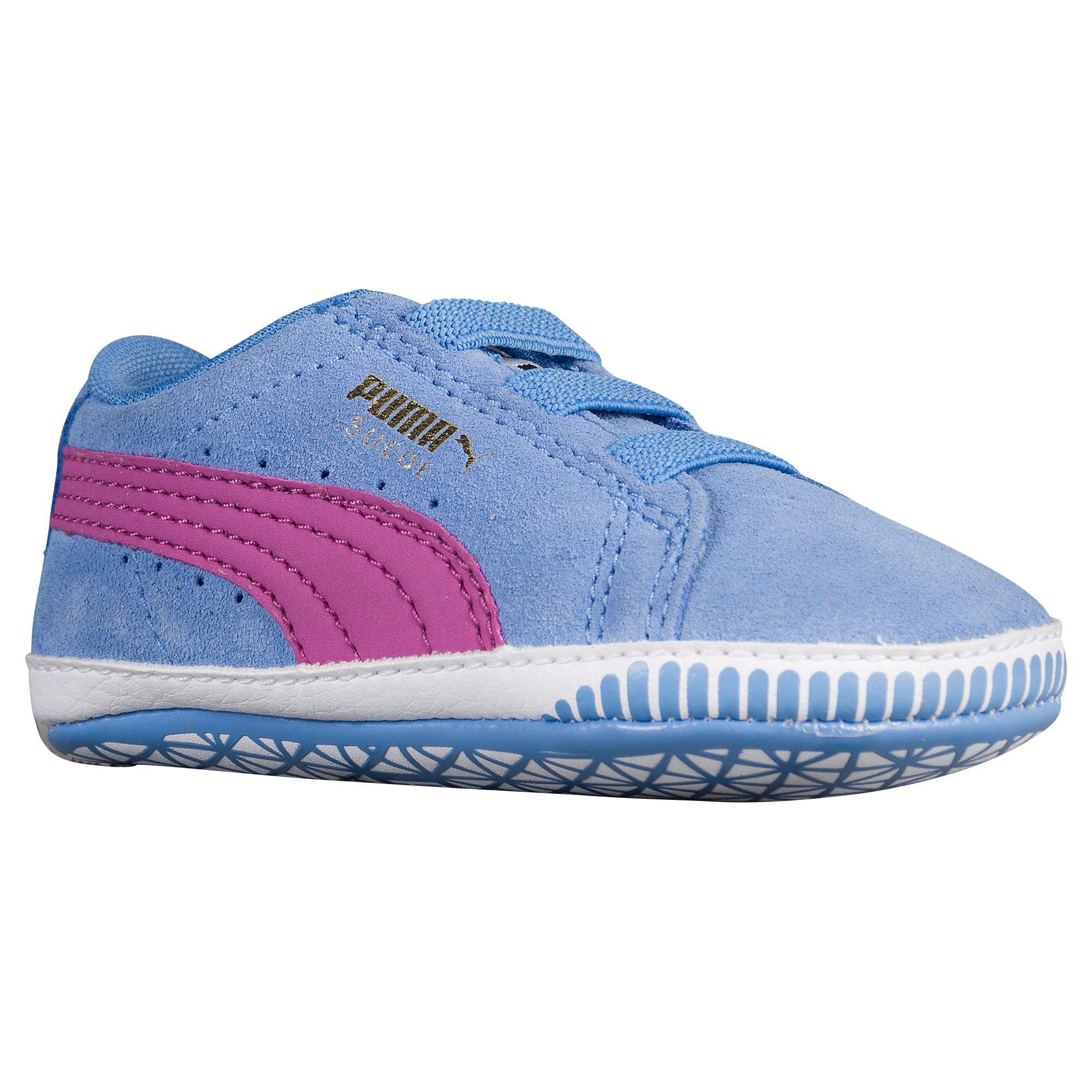 958b45131730 PUMA Suede Crib - Girls  Infant - Basketball - Shoes - Marina Blue Meadow  Mauve