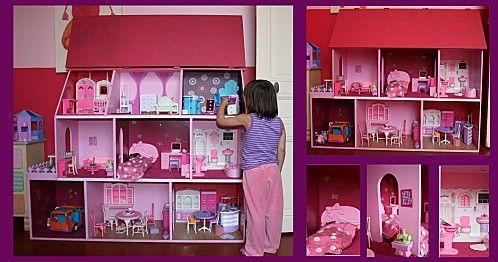 Maison de poup e tuto maison barbie pinterest - Fabriquer une maison de barbie ...