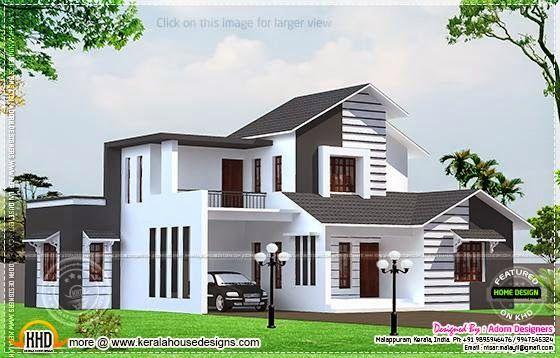 3 Bedroom Home Design In 1700 Sq Feet Kerala House Design Unique House Design House Designs Exterior