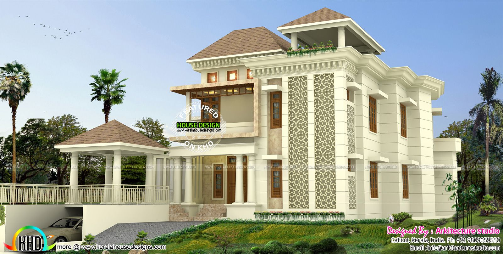 Sq yd modern house architecture kerala home design floor plans bedroom american