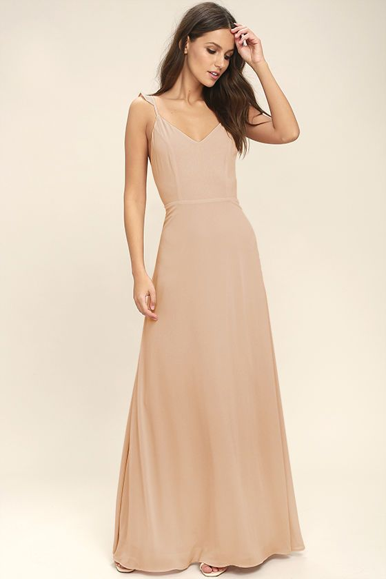 2b4677792e6e Your allure will be at an all-time high when you slip into the Meteoric  Rise Blush Maxi Dress! Breezy woven fabric sweeps over a princess seamed,  ...