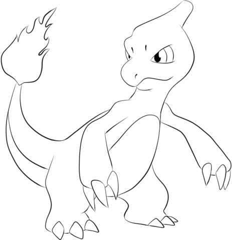 Charmeleon Coloring Page Pokemon Coloring Pages Pokemon Coloring