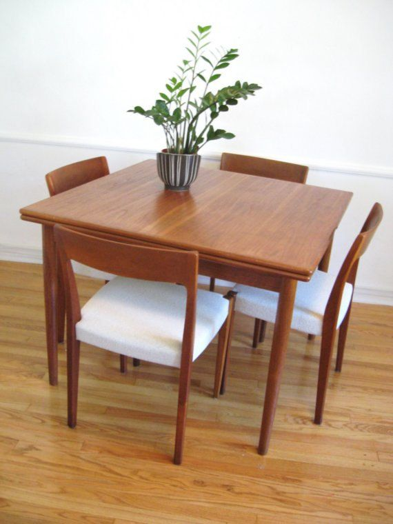 Expandable Teak Dining Set Small Square Dining Table Modern