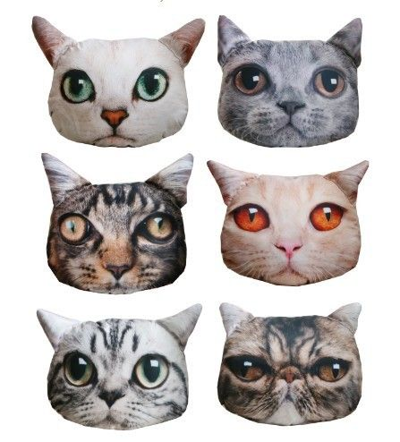 Cushion Pillow Cute Plush Animal Pillow Pets Animated Outdoor Sofa Cushion Big Cat Shaped Very Realistic Car Seat Birthday Gift Rund Ums Haus