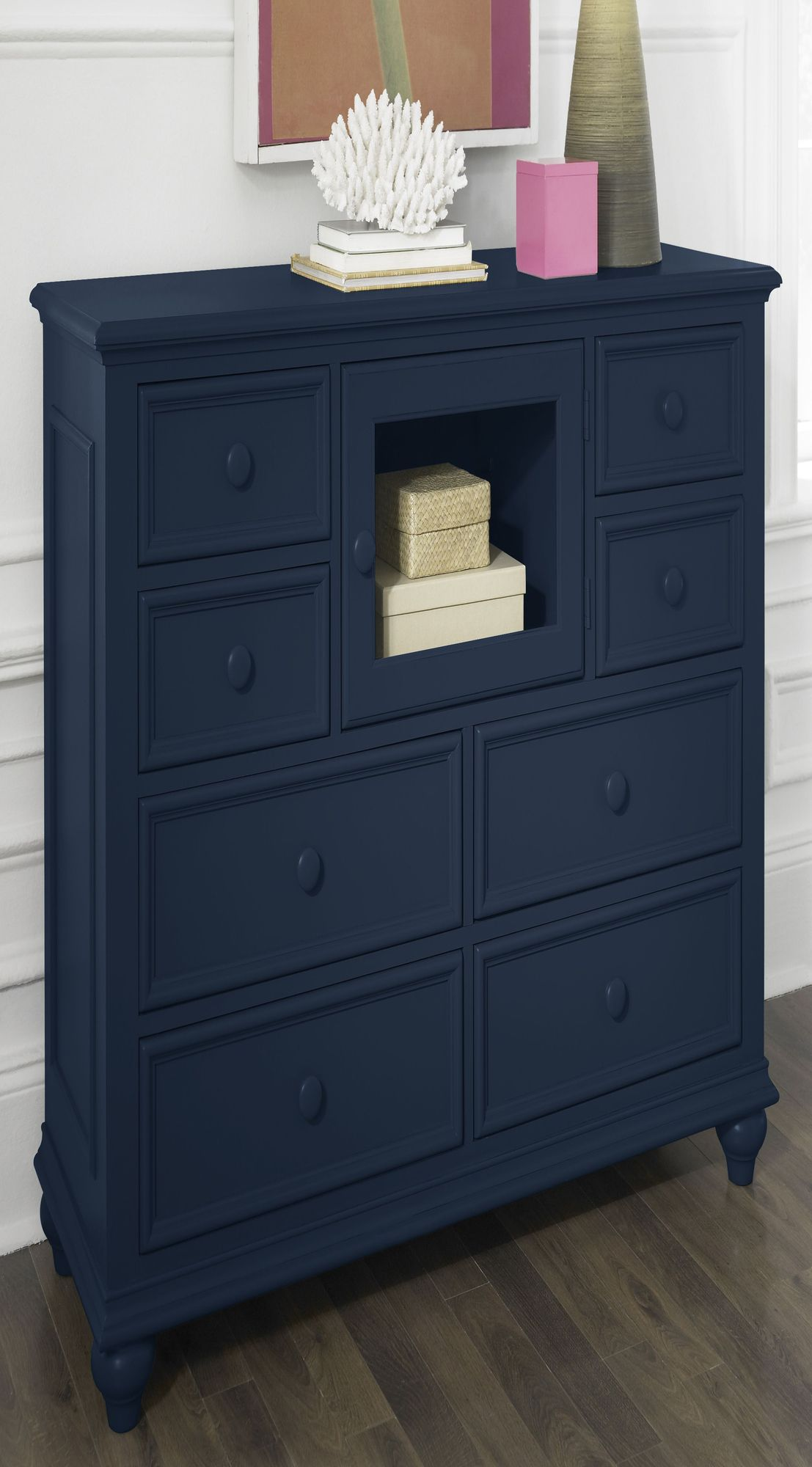 Riverside Furniture Splash Of Color Entertainment Dresser In Navy Blue.  This Is What Iu0027ve Been Wanting To Do With Our Bedroom Furniture!