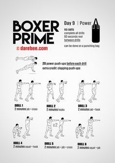 boxer prime 30day fitness program  boxing training