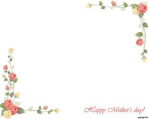 Da de la madre en plantilla powerpoint diseos de tarjetas happy mothers day ppt template background with nice floral frame and white background toneelgroepblik Images
