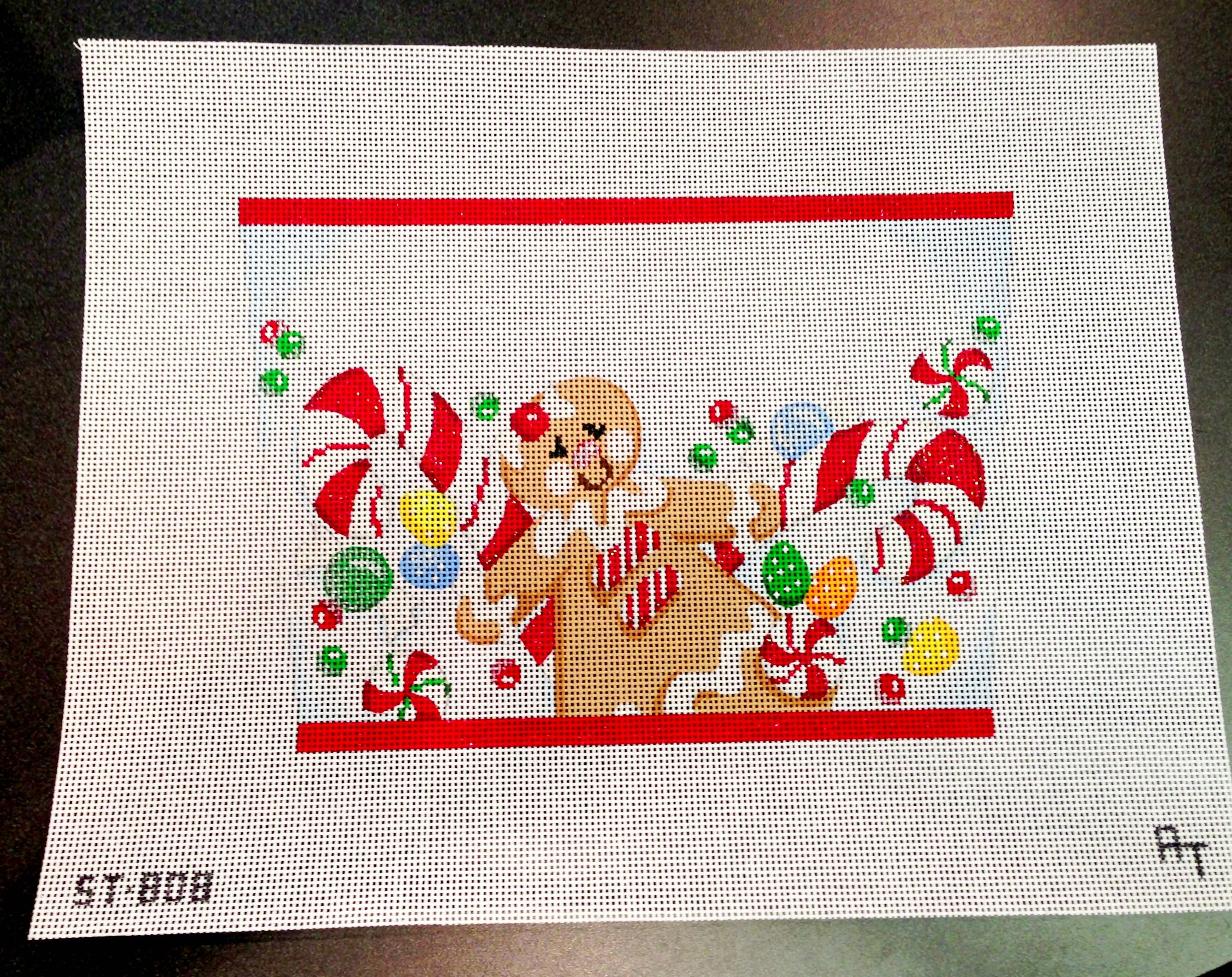 Adorable Gingerbread Man Stocking Topper