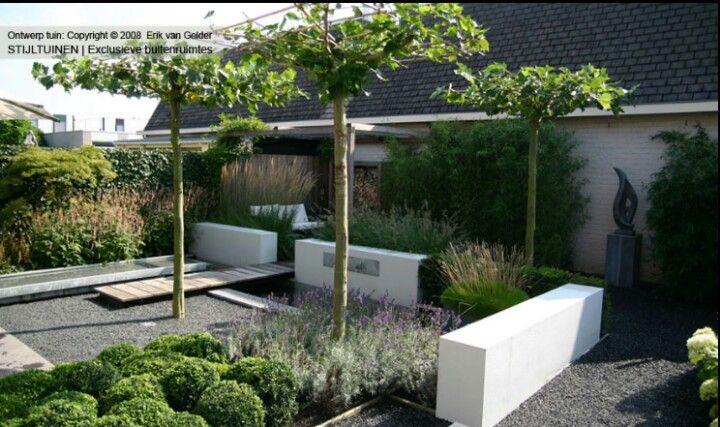 Mooie strakke tuin patios pinterest jardiner a for Casa moderna zwolle