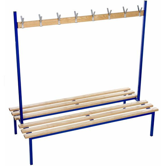 Evolve Duo Cloakroom Bench 1 0m Wide Double Sided With No Top Shelf Shelves Bench Room