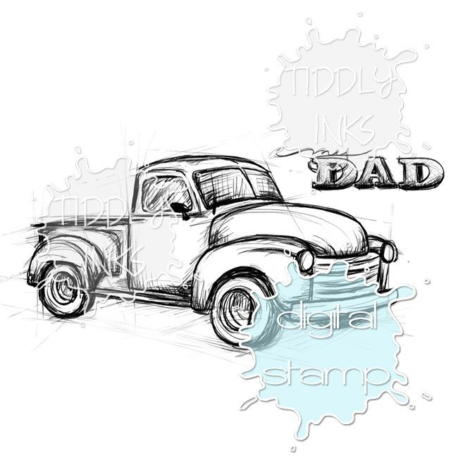 CHEVY PICKUP TRUCK RUBBER STAMP Old Truck Rubber Stamp Red Rubber CHEVROLET