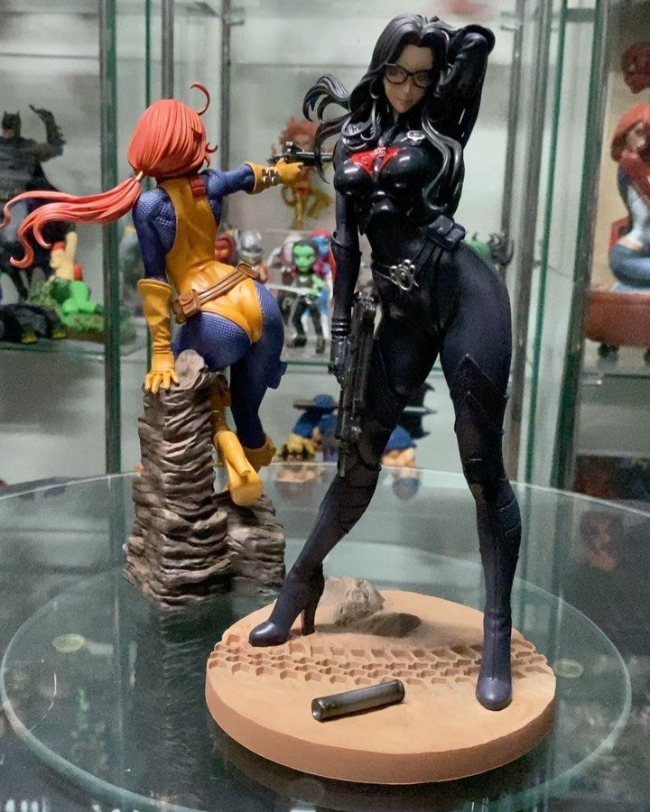 Just added the kotobukiyaofficial Baroness Bishoujo statue to the collection joining Scarlett the first from the GI Joe line Love this series