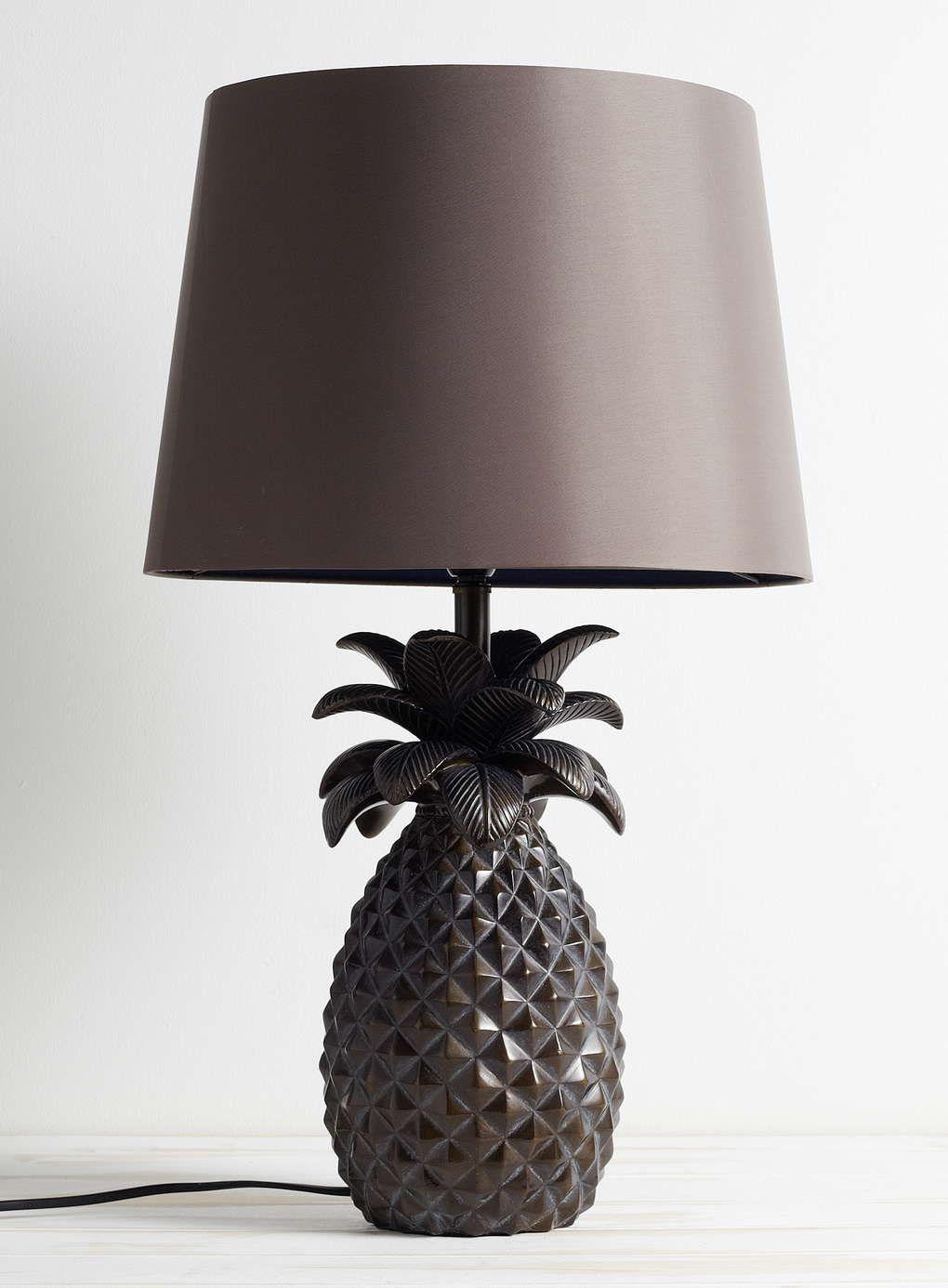 Bronze Pineapple Table Lamp Bhs Pineapple Room Lighting Home