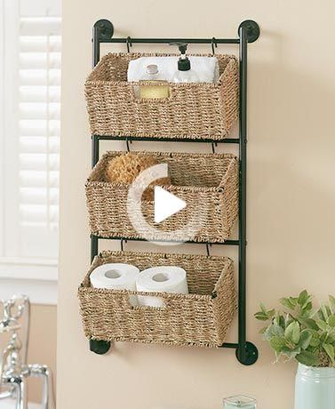 Cestas Colgantes De Pared Seagrass In 2020 Baskets On Wall Wall Basket Storage Wall Hanging Storage