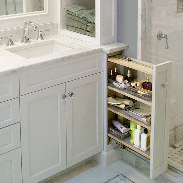 Standout Space Saving Storage Ideas From Readers Double Vanity Vanities And Storage