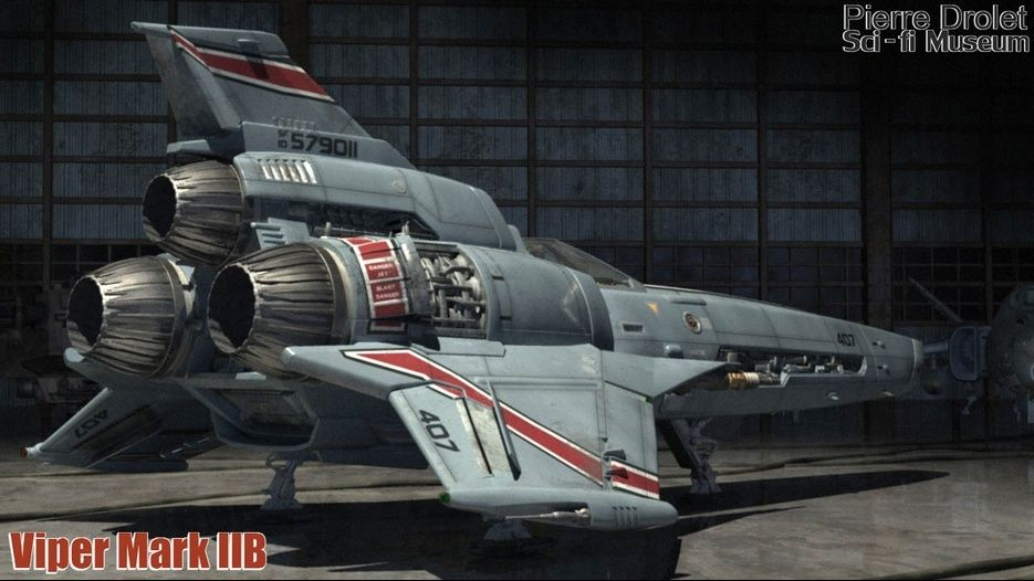 Bsg Blood And Chrome Viper Mark Iib Designed By Pierre Drolet