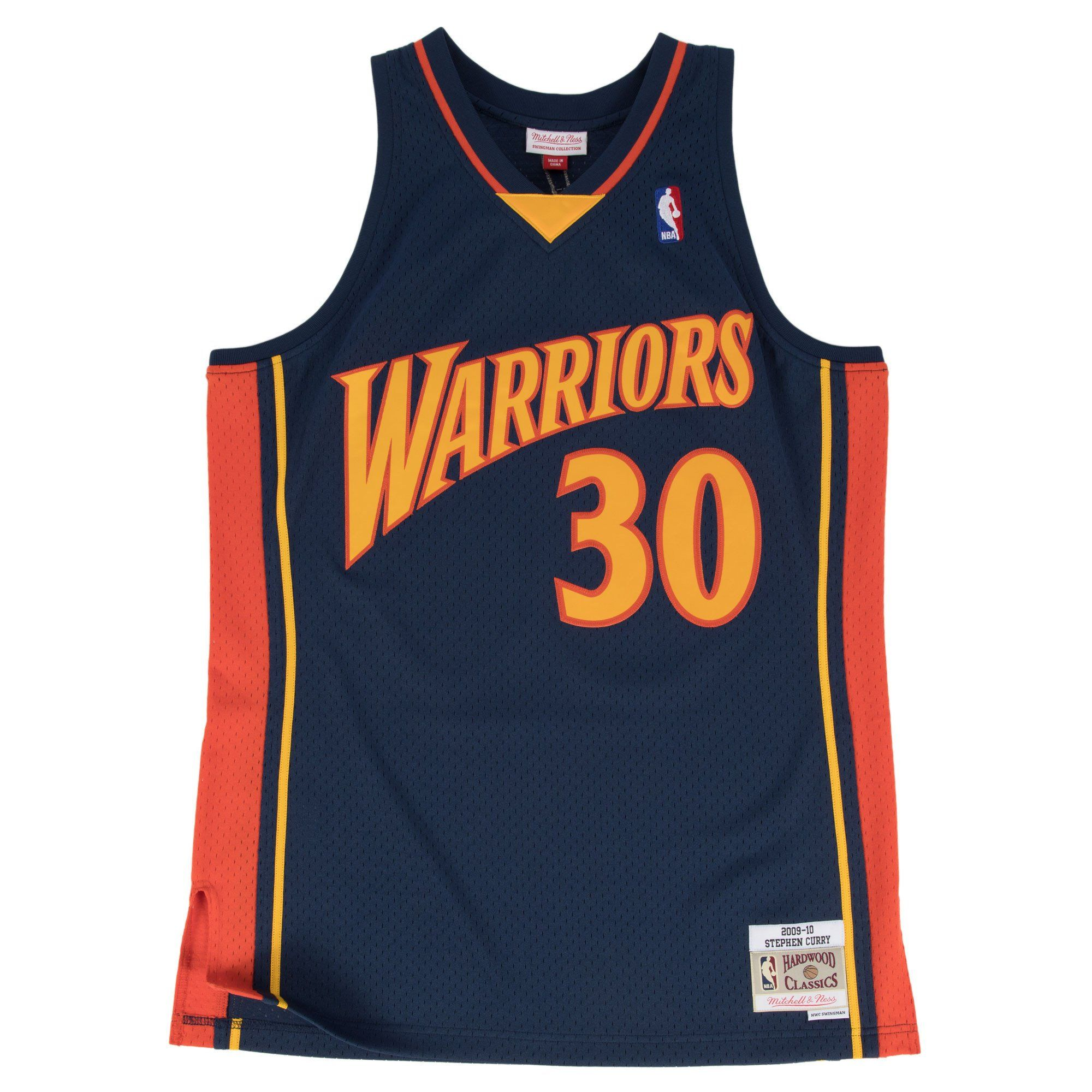 quality design 8285e 5c018 Men s Stephen Curry Golden State Warriors Mitchell   Ness Navy Blue  Throwback Swingman Jersey