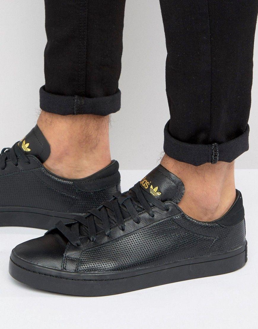 1ec5b2ebd483 ADIDAS ORIGINALS COURT VANTAGE CORE SNEAKERS IN BLACK - BLACK.   adidasoriginals  shoes