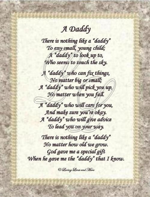 Love You Dad Poems Bing Images