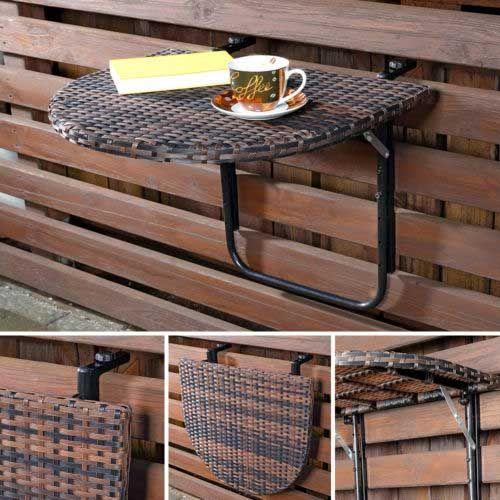 5 mesas plegables perfectas para balcones peque os mil for Mesa plegable para balcon