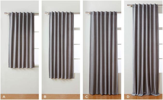 Curtain lengths...108\