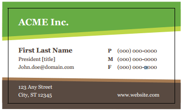 Free Business Card Templates You Can Create Today Free - Free business card templates for word