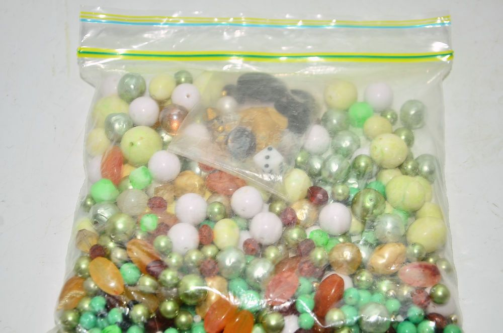 vintage loose beads crafting jewelry making lucite plastic faux pearl bead lot…