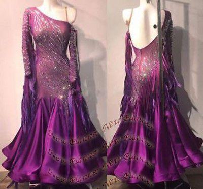 f68fa3f642fd Ballroom 152361: B7632 Prom Ballroom Standard Waltz Tango Swing Uk 10 Us 8 Dance  Dress Feather -> BUY IT NOW ONLY: $429.99 on #eBay #ballroom #standard ...