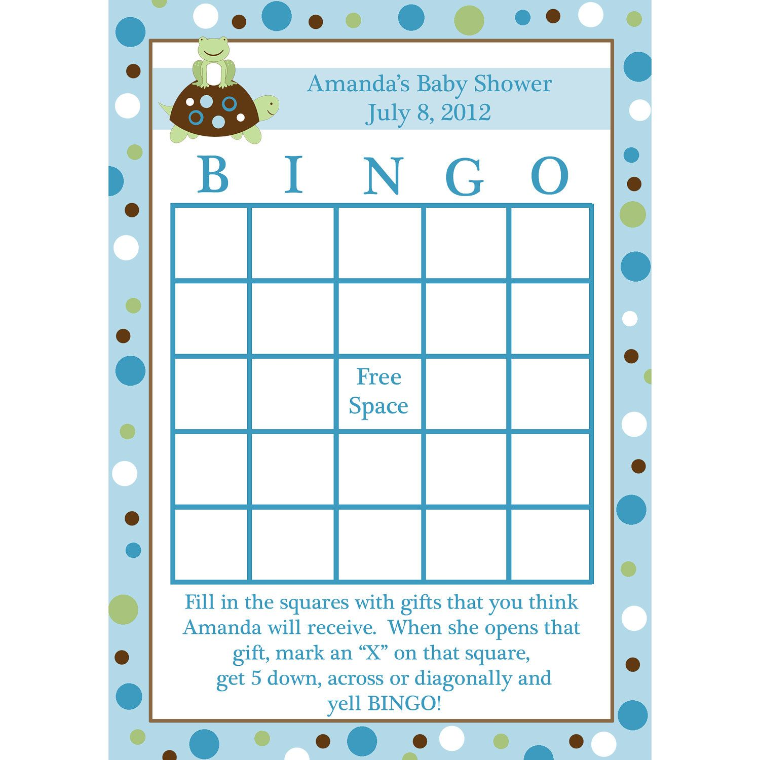 Bingo Baby Shower Games Baby Shower Ideas Zebra Present Bingo Game