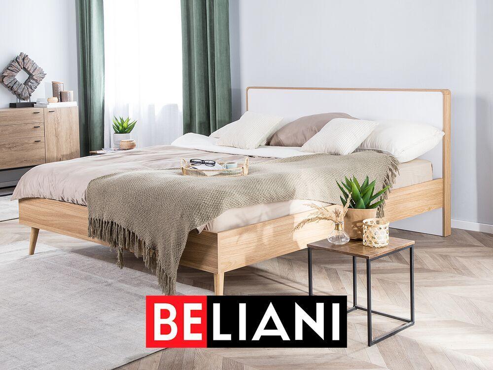 Photo of Elegantes Doppelbett in heller Holzoptik