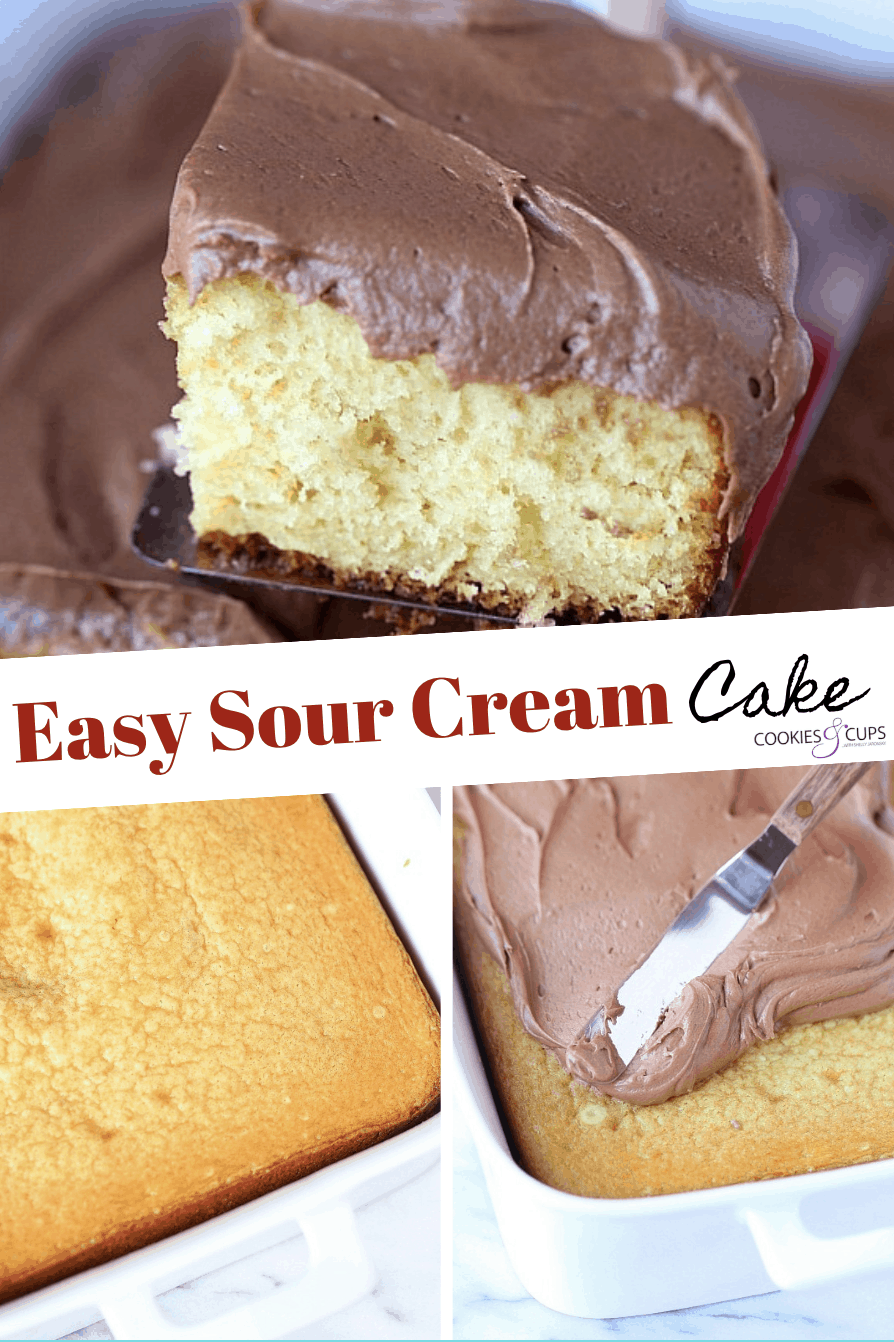 Easy Sour Cream Cake With Creamy Chocolate Frosting Is My Family S Favorite Dessert Recipe This In 2020 Cake Recipe With Sour Cream Sour Cream Recipes Sour Cream Cake