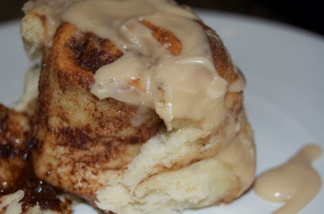 Cinnabons!  I don't get a chance to eat these to often, but enjoy them when I do. Nice, warm and gooey.