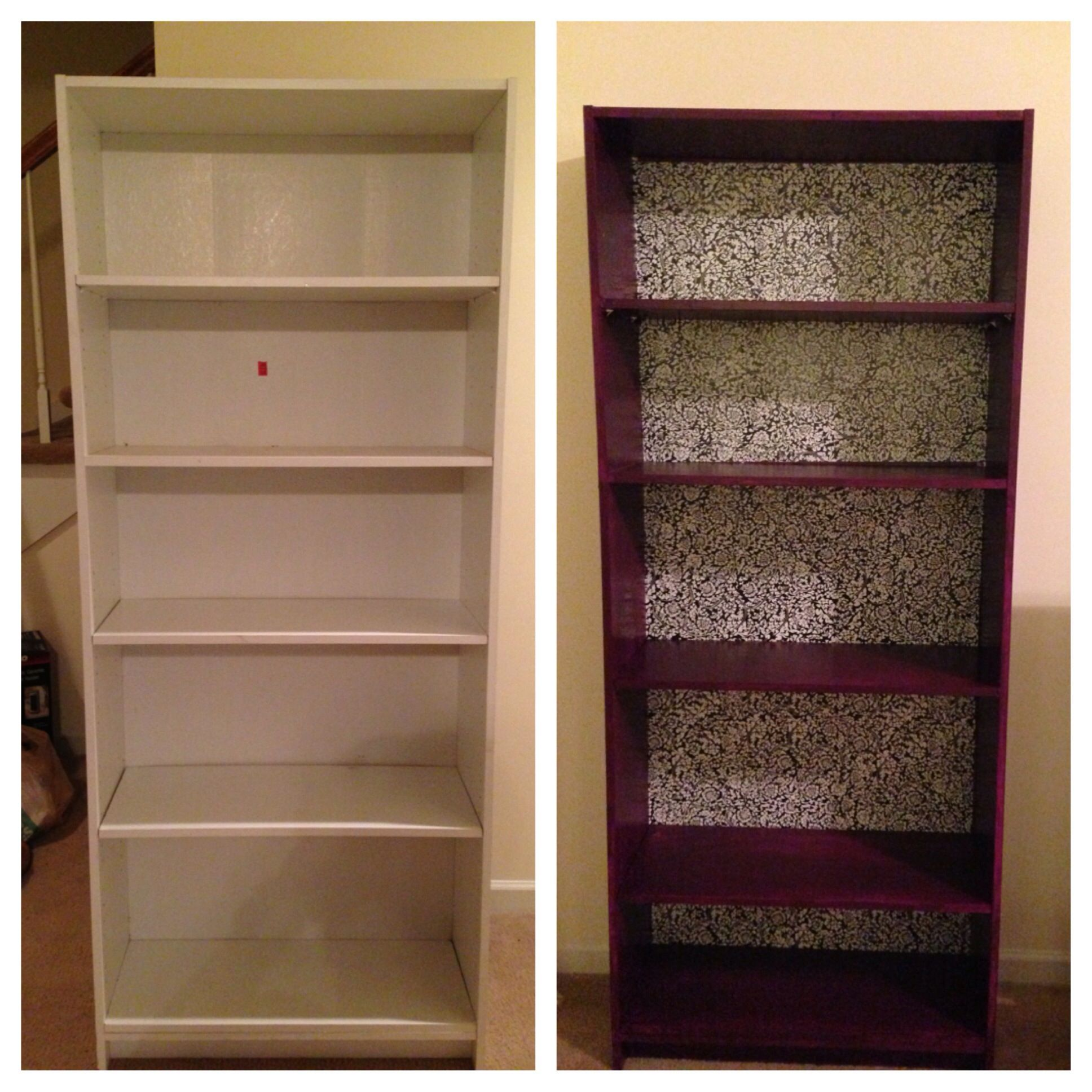 Bought A Cheap Old Bookshelf From Goodwill Primer And Paint Home Depot Shelf Liner Target BOOM