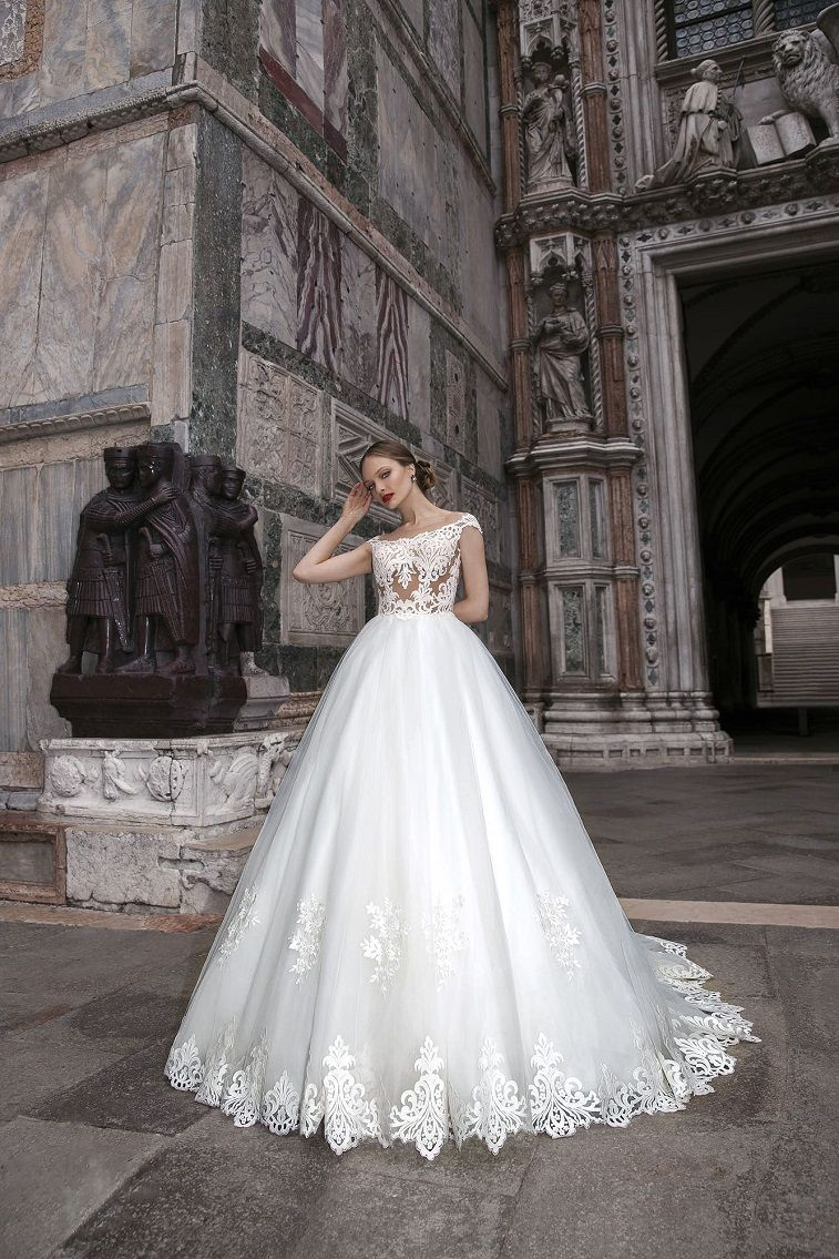 Anna Sposa Wedding Dresses - Venice Bridal Collection Cap sleeves heavy embellishment ball gown wedding dress #weddingdress wedding gown ,wedding dress