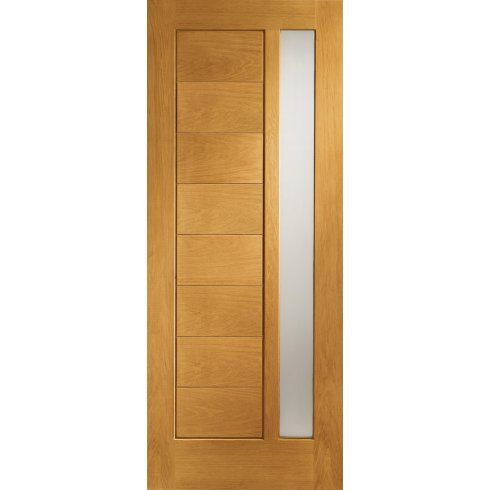 376c51c854f1 XL Joinery External Pre-Finished Oak Modena Door with Obscure Glass - Image  1 of 1