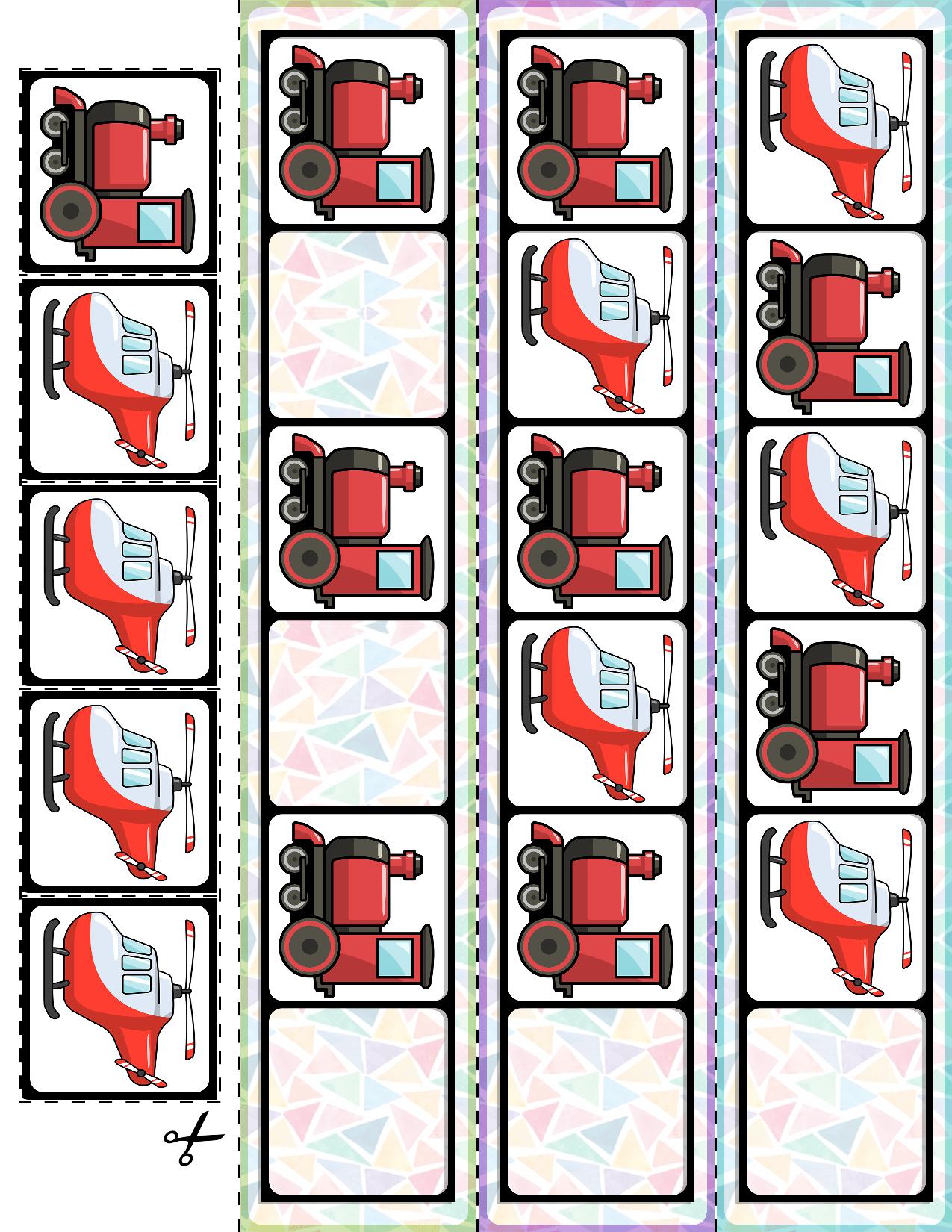 Transportation Vehicles Ab Pattern Cards 30 Cards Ab Patterns Elementary Activities Card Patterns [ 1650 x 1275 Pixel ]
