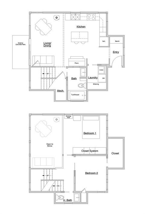 Small Cube Home A Touch Of Outside Small Houses House Plans Small House Plans Small House