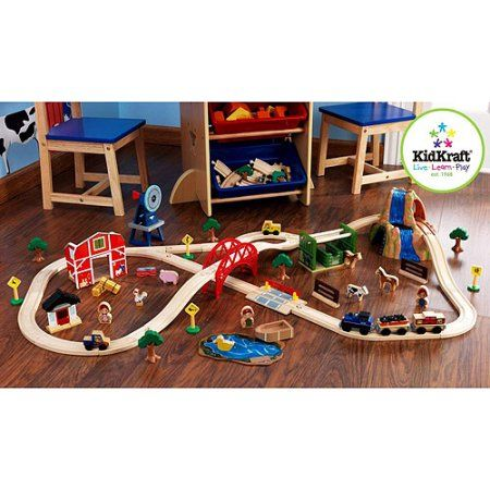 KidKraft Farm 75-Piece Train Set, Multicolor   Train set, Walmart ...