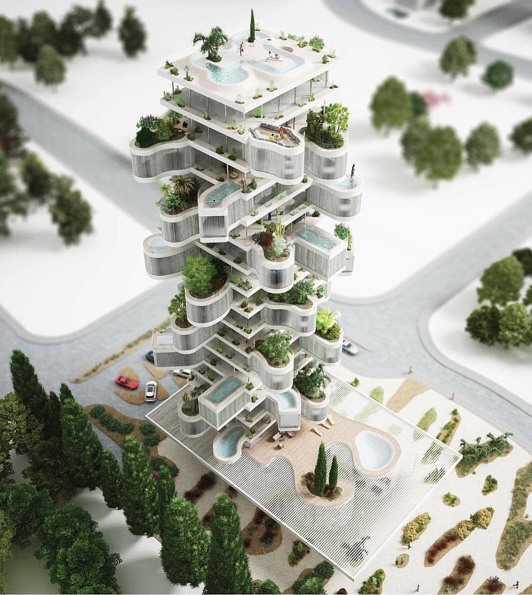 Das Amsterdamer Architekturburo Nl Architects Hat Quot Clelia Towe Quot Entworfen Cyprus Limassol Amazing Architecture Architect Architecture