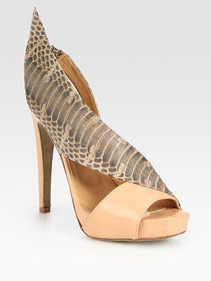 Aperlai Snakeskin Slingback Sandals cheap best place AuP2UtT1hu