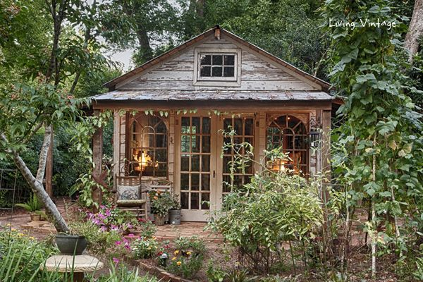 Jenny 39 s adorable potting shed made with reclaimed building for Reclaimed house materials