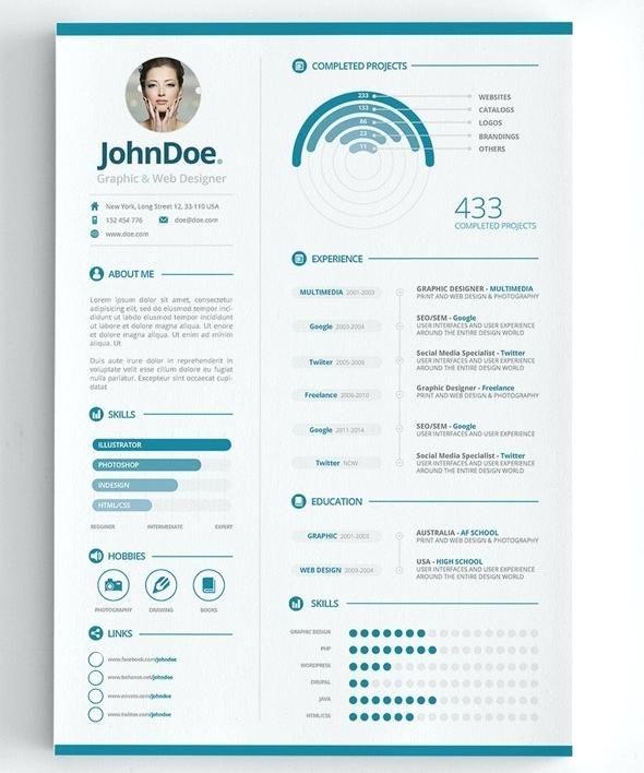 Pin by Bonnie Adams on Visual Infographic Resume Pinterest Cv - sample designer resume template