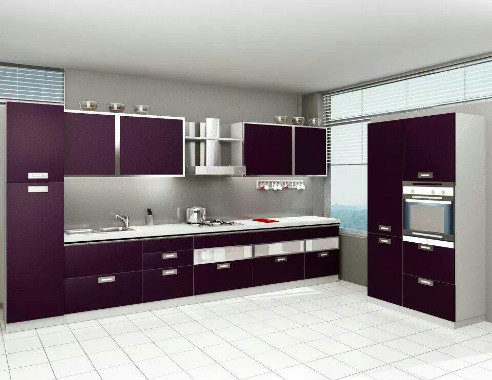 Cocina moderna con puertas laminadas. | COCINAS MODERNAS. MODERN ...
