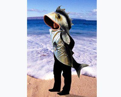 Fish costume. ADULT SIZE. Handmade eco u0026 animal friendly. Pisces mermaid neptune masquerade outfit for women men. & Fish costume. ADULT SIZE. Handmade eco u0026 animal friendly. Pisces ...